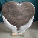 Gravsten hjärta PG SW 150 small