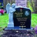 Ängel PG A2 ( gravsten på kungsängens kyrkogård stockholm )