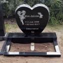 Gravsten Hjärta 212 Black