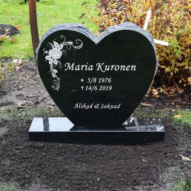 Gravsten Hjärta 201 s ( ( Risinge kyrka Finspång norrköping )  )